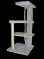 39 inch Half Spiral Cat Tree that can be used as feline stairs to get to their favorite high places. Braided rope toy attached to bottom of highest shelf for hours of fun! $109.99, fully assembled cat furniture with only $25 shipping.